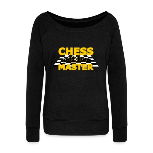 Chess Master - Black Version - By SBDesigns - Women's Boat Neck Long Sleeve Top