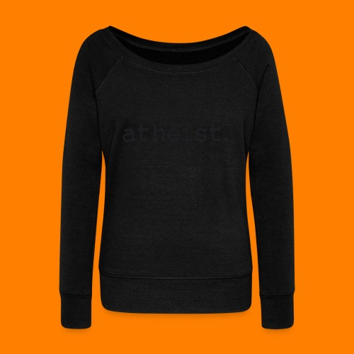 atheist BLACK - Women's Boat Neck Long Sleeve Top