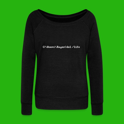 Programming Get A Life - Women's Boat Neck Long Sleeve Top