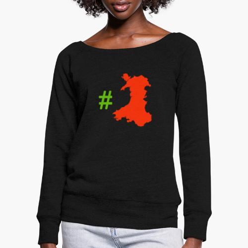 Hashtag Wales - Women's Boat Neck Long Sleeve Top