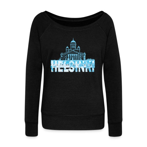 Helsinki Cathedral - Women's Boat Neck Long Sleeve Top