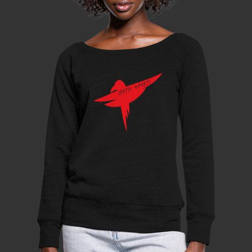 Raven Red - Women's Boat Neck Long Sleeve Top