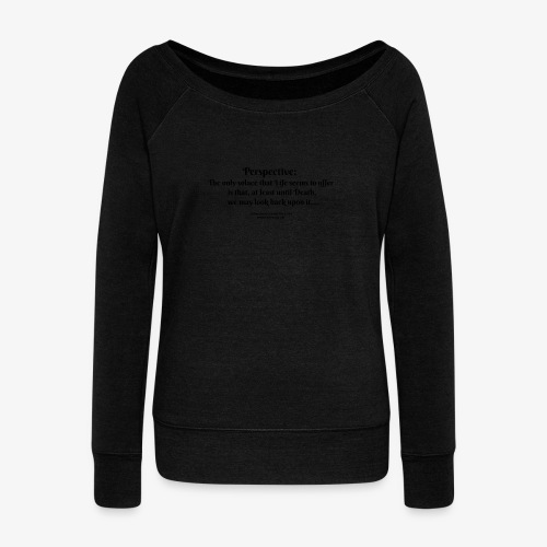 perspective T - Women's Boat Neck Long Sleeve Top