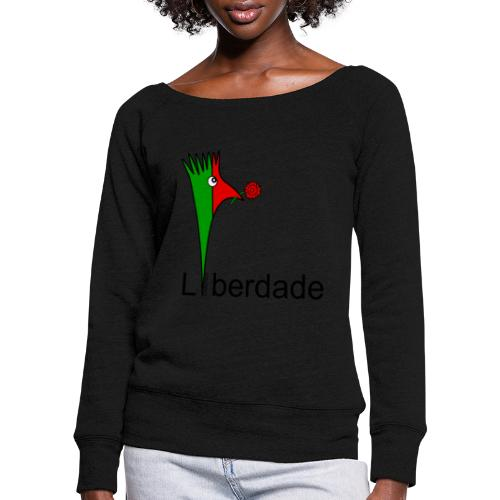 Galoloco - Liberdaded - 25 Abril - Women's Boat Neck Long Sleeve Top