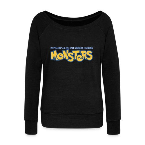 Monsters - Women's Boat Neck Long Sleeve Top