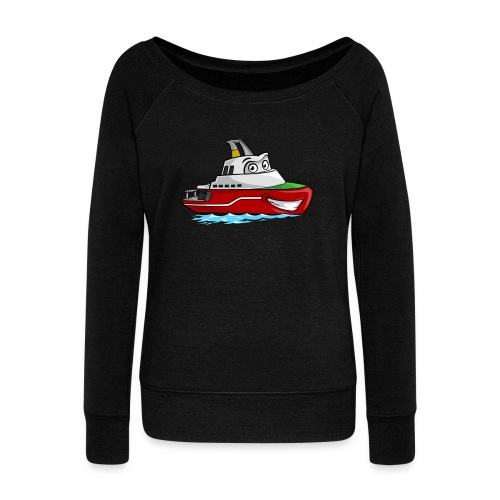 Boaty McBoatface - Women's Boat Neck Long Sleeve Top