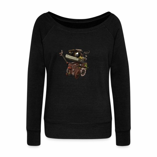 Bout 2 Robot - Women's Boat Neck Long Sleeve Top