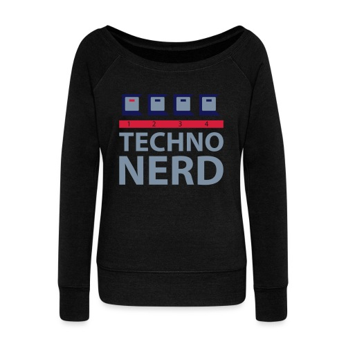 Techno Nerd - Women's Boat Neck Long Sleeve Top