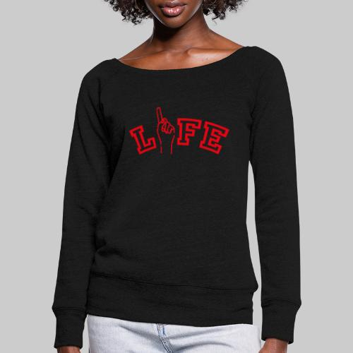 ONE LIFE - Women's Boat Neck Long Sleeve Top