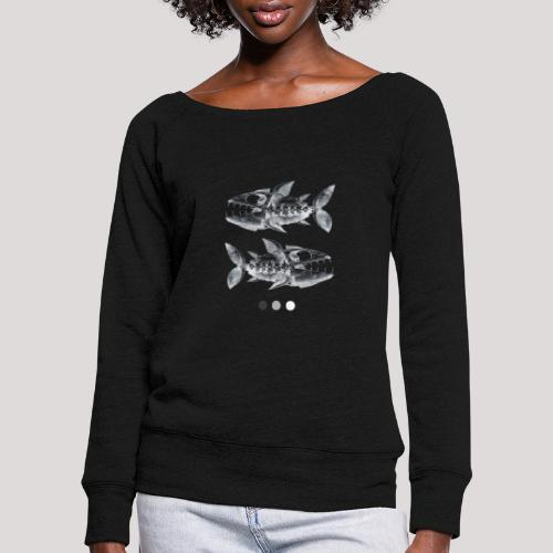 Fish05 - Women's Boat Neck Long Sleeve Top