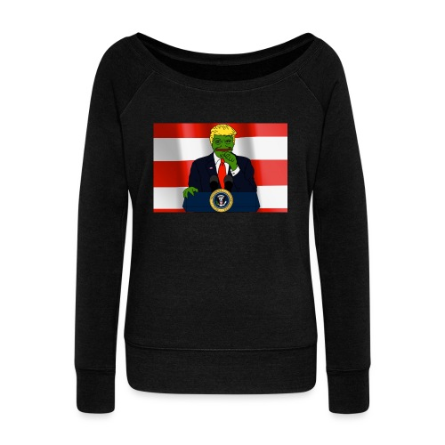 Pepe Trump - Women's Boat Neck Long Sleeve Top