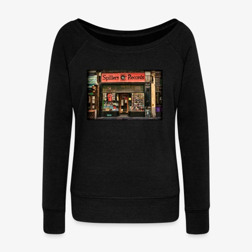 Spillers Records Shop - Women's Boat Neck Long Sleeve Top