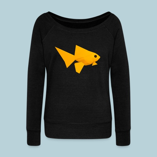 RATWORKS Fish-Smish - Women's Boat Neck Long Sleeve Top