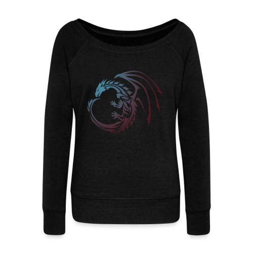 color Dragon - Women's Boat Neck Long Sleeve Top
