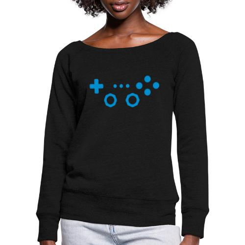 Classic Gaming Controller - Women's Boat Neck Long Sleeve Top