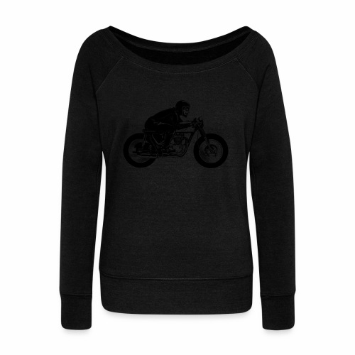 Cafe Racer 1c - Women's Boat Neck Long Sleeve Top
