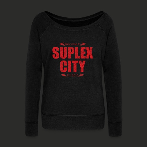 Suplex City Mens T-Shirt - Women's Boat Neck Long Sleeve Top