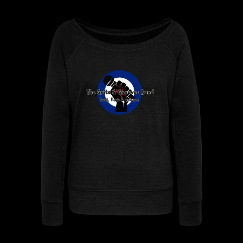 Grits & Grooves Band - Women's Boat Neck Long Sleeve Top