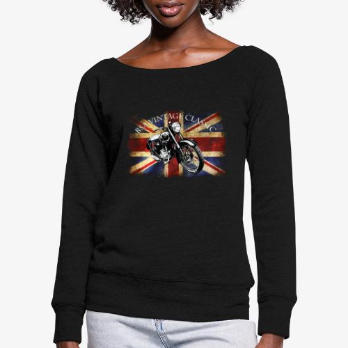 Vintage famous Brittish BSA motorcycle icon - Women's Boat Neck Long Sleeve Top