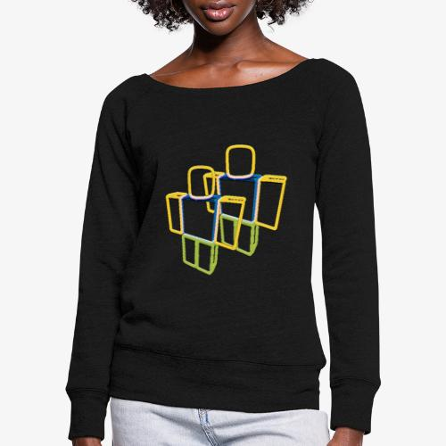Sqaure Noob Person - Women's Boat Neck Long Sleeve Top