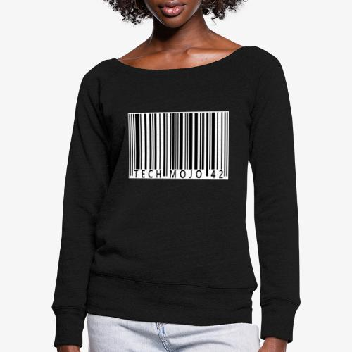 TM graphic Barcode Answer to the universe - Women's Boat Neck Long Sleeve Top