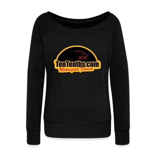 3Colour_Logo - Women's Boat Neck Long Sleeve Top
