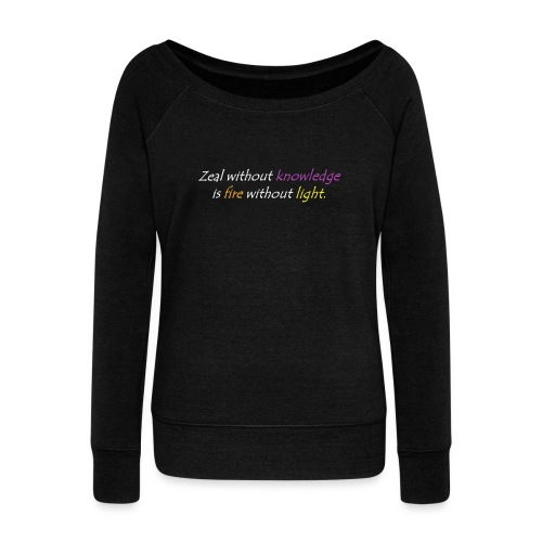 Say with colors - Women's Boat Neck Long Sleeve Top