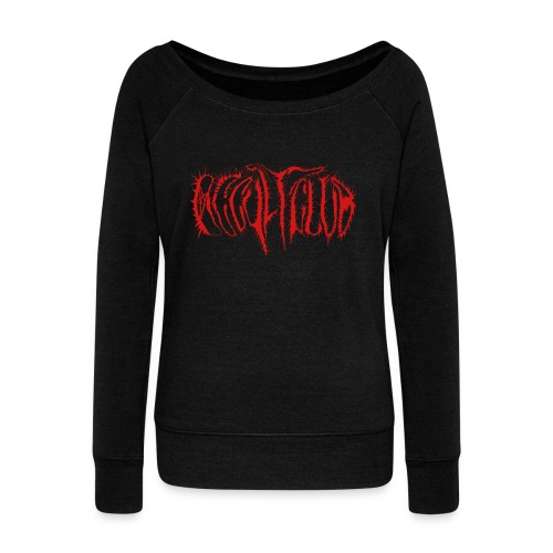Occultclub Blackmetal - Women's Boat Neck Long Sleeve Top