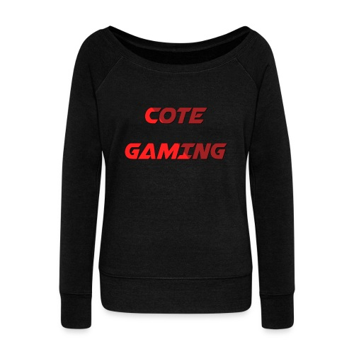 Cote Sweater Rode Letters - Women's Boat Neck Long Sleeve Top