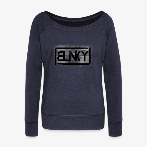 Blinky Compact Logo - Women's Boat Neck Long Sleeve Top