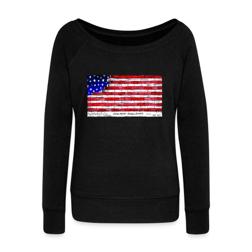 Good Night Human Rights - Women's Boat Neck Long Sleeve Top