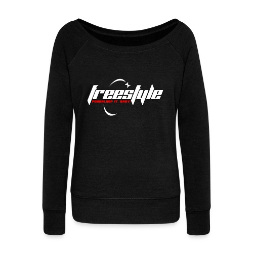 Freestyle - Powerlooping, baby! - Women's Boat Neck Long Sleeve Top