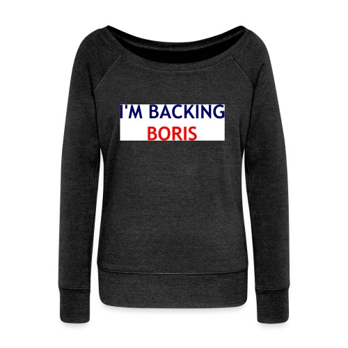 Backing Boris - Boxer Shirts - Women's Boat Neck Long Sleeve Top