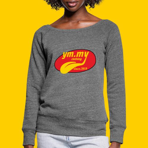 YM.MY clothing LOGO - Women's Boat Neck Long Sleeve Top