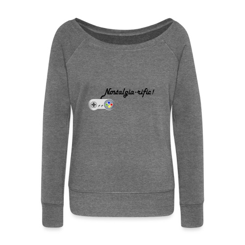 Nostalgia-rific! - Women's Boat Neck Long Sleeve Top
