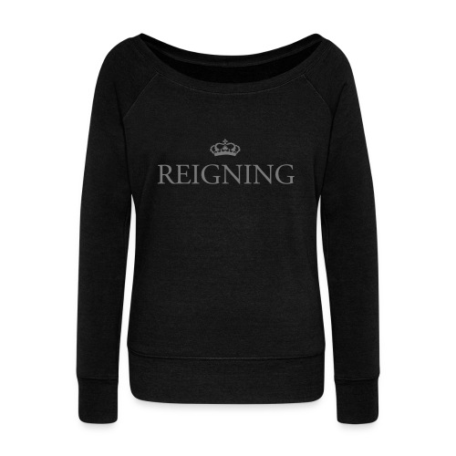 Gin O'Clock Reigning - Women's Boat Neck Long Sleeve Top