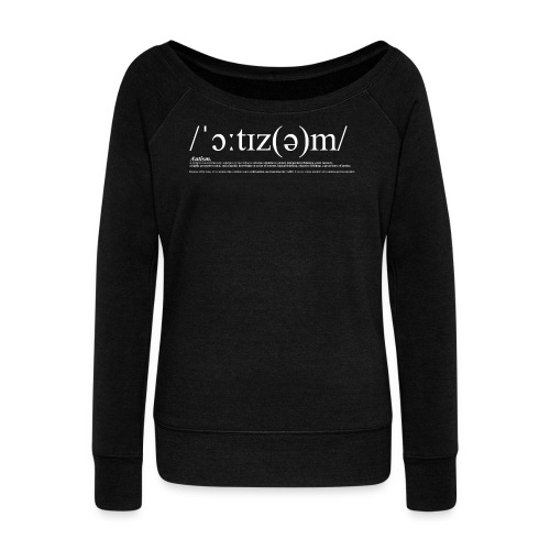 AUTISM WHITE - Women's Boat Neck Long Sleeve Top