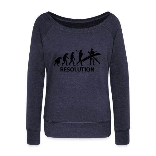 Resolution Evolution Army - Women's Boat Neck Long Sleeve Top
