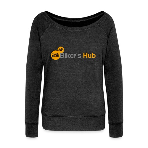 Biker's Hub Small Logo - Women's Boat Neck Long Sleeve Top