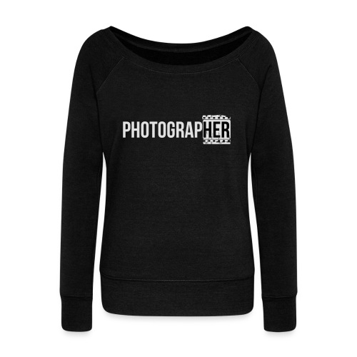 Photographing-her - Women's Boat Neck Long Sleeve Top