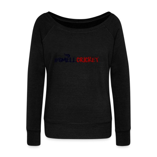 smellcricket - Women's Boat Neck Long Sleeve Top
