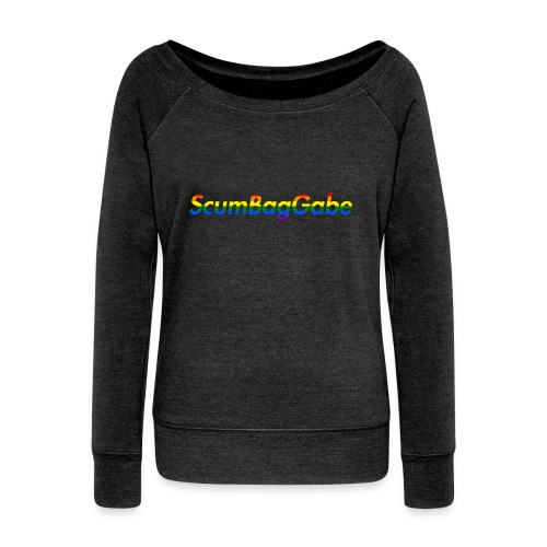 ScumBagGabe Multi Logo XL - Women's Boat Neck Long Sleeve Top