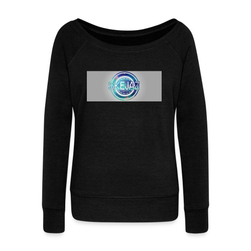 LOGO WITH BACKGROUND - Women's Boat Neck Long Sleeve Top