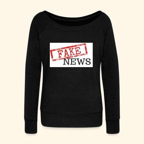 fake news - Women's Boat Neck Long Sleeve Top