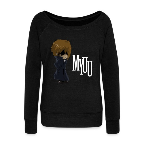 Chibi Myuu - Women's Boat Neck Long Sleeve Top