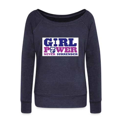 GIRL POWER NEVER surrender 01 - Sudadera con escote drapeado mujer