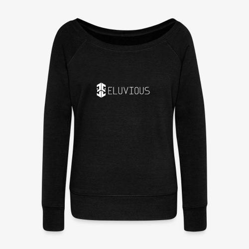 Eluvious   With Text - Women's Boat Neck Long Sleeve Top