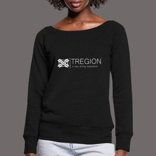 Tregion Logo wide - Women's Boat Neck Long Sleeve Top