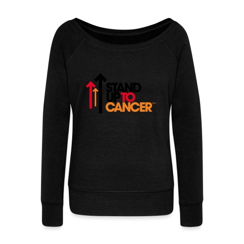 stand up to cancer logo - Women's Boat Neck Long Sleeve Top