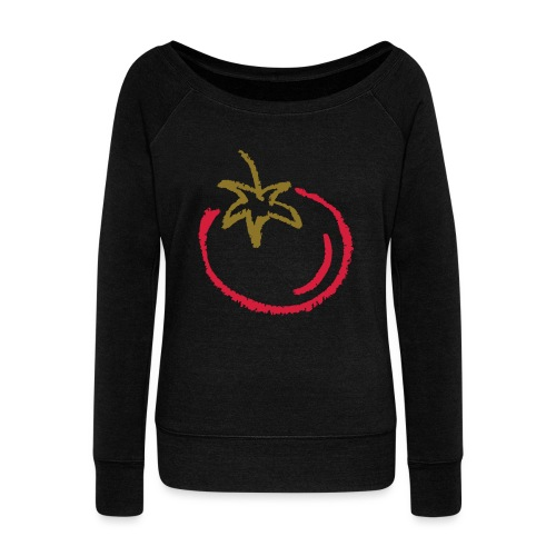 tomato 1000points - Women's Boat Neck Long Sleeve Top